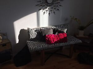 Bench with pillow