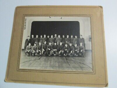 Vintage 1935 Black and White Picture Photograph FOOTBALL TEAM in Cardboard Frame ()