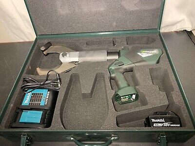 Greenlee Gator Esc105x Makita 18v Battery Powered Cable Cutter Esc105 Excellent