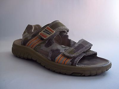 Naturino Boys Water Sport Tail Sandals Camouflage Green Brown sz 34 US 3 Youth