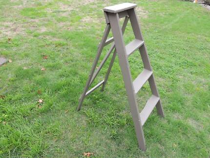 Vintage 1950s timber ladder / display