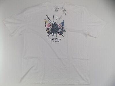 Men's Nautica graphic t shirt white 3X XXXL