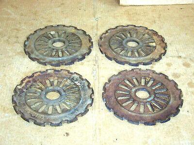 4 International Ih Cast Iron Planter Plates 3236-a Set Of 4 Corn Seed Steampunk