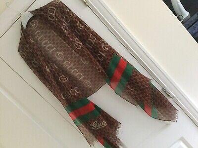 Vintage Gucci  Monograms scarf pashmina,sarong  segunda mano  Embacar hacia Mexico