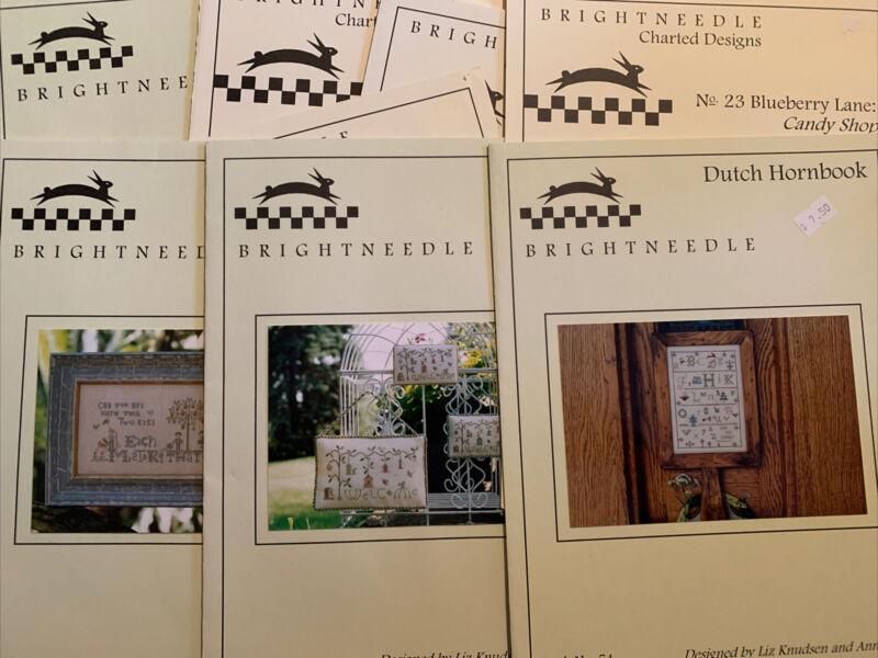9 Brightneedle Cross Stitch Charts Leaflets Destash Sampler Lot Can You Spy? +