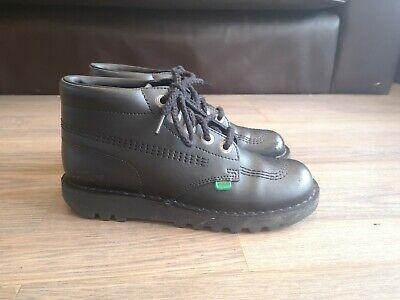Kickers kick hi black boots size 5