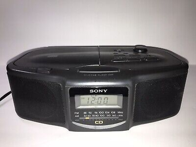 Sony ICF-CD800 Stereo Clock Radio, CD Player, AM/FM, Tested
