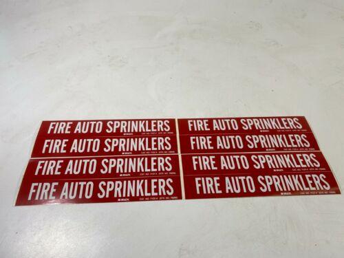 BRADY 7107-4 Pipe Marker,Fire Auto Sprinklers, PK4 - Lot of 2!
