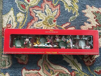 Disney Candy Cane Christmas 2000 Train Frame Set Mickey Mouse 4 Picture Frames