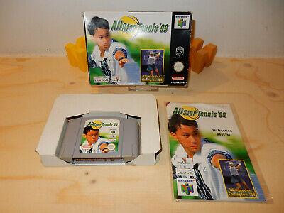 PAL N64: All-Star Tennis 99 (OK) Complete OVP Box Boxed Manual Nintendo 64