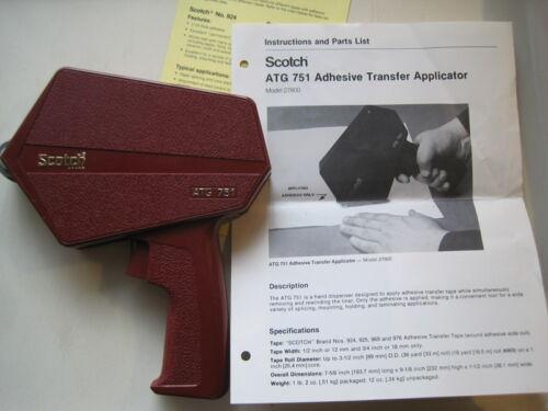 "Scotch ATG 751 Adhesive Transfer Applicator Double Side Tape Gun Dispenser ½"" ¾"""
