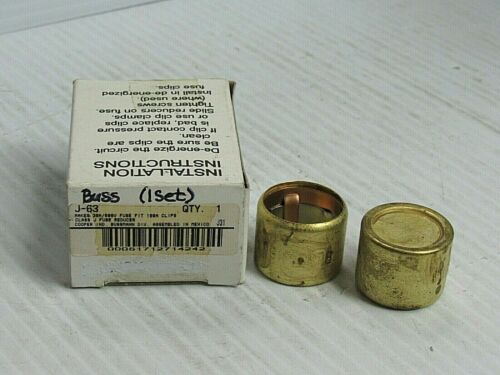 NEW 1 PAIR BUSS FUSE REDUCER J-63 J63