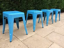 Blue Metal Replica Xavier Pauchard Tolix Stools (4 Available) Wollongong Wollongong Area Preview