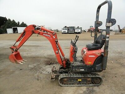 2012 Kubota K008-3 Mini Excavator Blade Rubber Tracks 1655 Hours Small