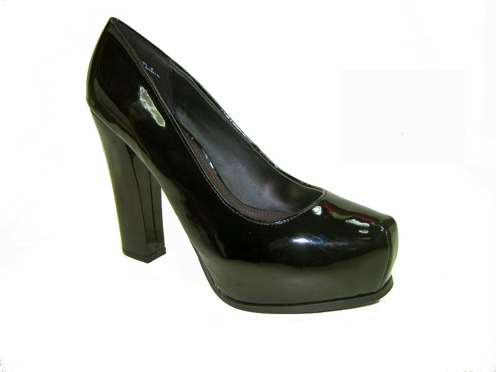 Bamboo petunia-01 platform 5 inch high heel black patent wor