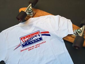 SKATEBOARD USA 1970s skatepark T-shirt 40 Years Special Edition vintage repro