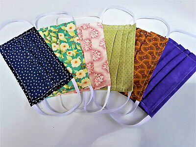 Made In FLORIDA by a Quilter, HAND MADE 100% COTTON FACE MASK, w/Elastic straps