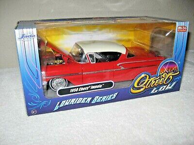 1958 CHEVY IMPALA STREET LOW RIDER JADA 1:24 SCALE OPENING HOOD, DOORS & TRUNK  1958 Chevy Impala Hood