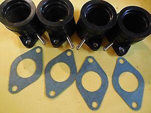 4 new Yamaha 82-83 XJ650 XJ750 intake manifolds carb holders w/ gaskets kit set
