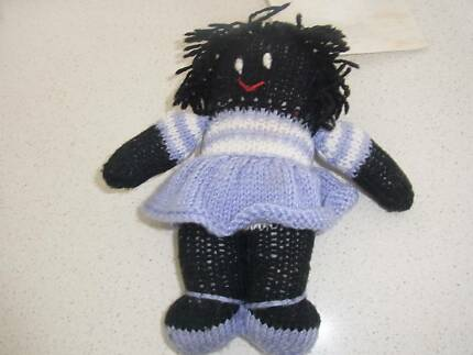 knitted small baby doll