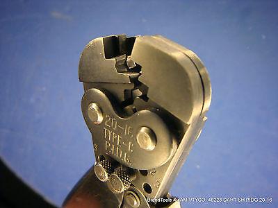 Amp 46223 Daht Sh Pidg 20-16 Crimper Hand Crimp Tool Good Condition