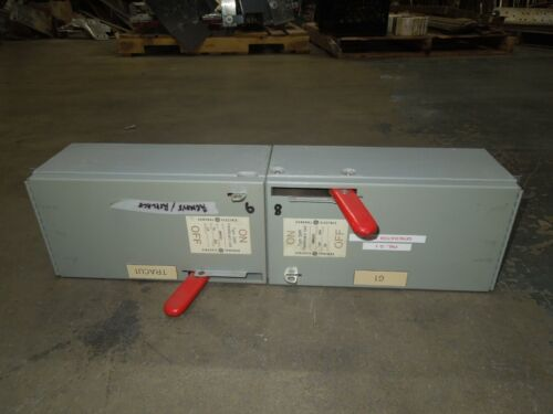 Ge Qmr323/qmr321 100a/30a Twin 3ph 240v Fused Panelboard Switch Red Handle