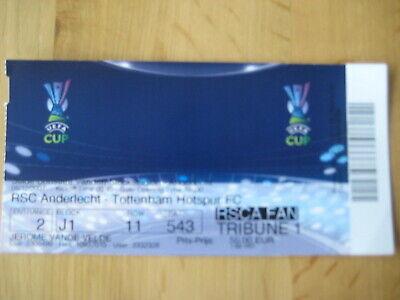 Ticket: Anderlecht - Tottenham Hotspur UEFA (6-12-07)