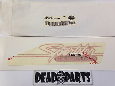 Harley new nos 14237-90 sportster fuel gas tank decal sticker badge emblem