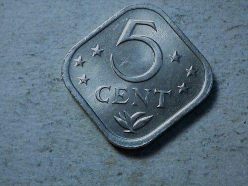 Netherlands Antilles 5 cent 1975 square coin unc