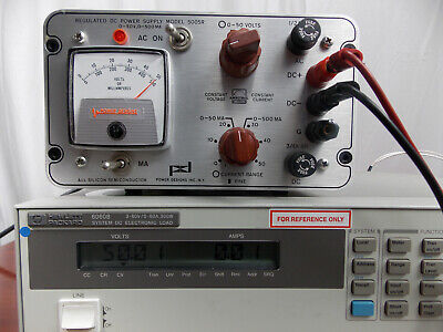 Power Designs Regulated Dc Power Supply Model 5005r 0-50v 0-500ma Tested