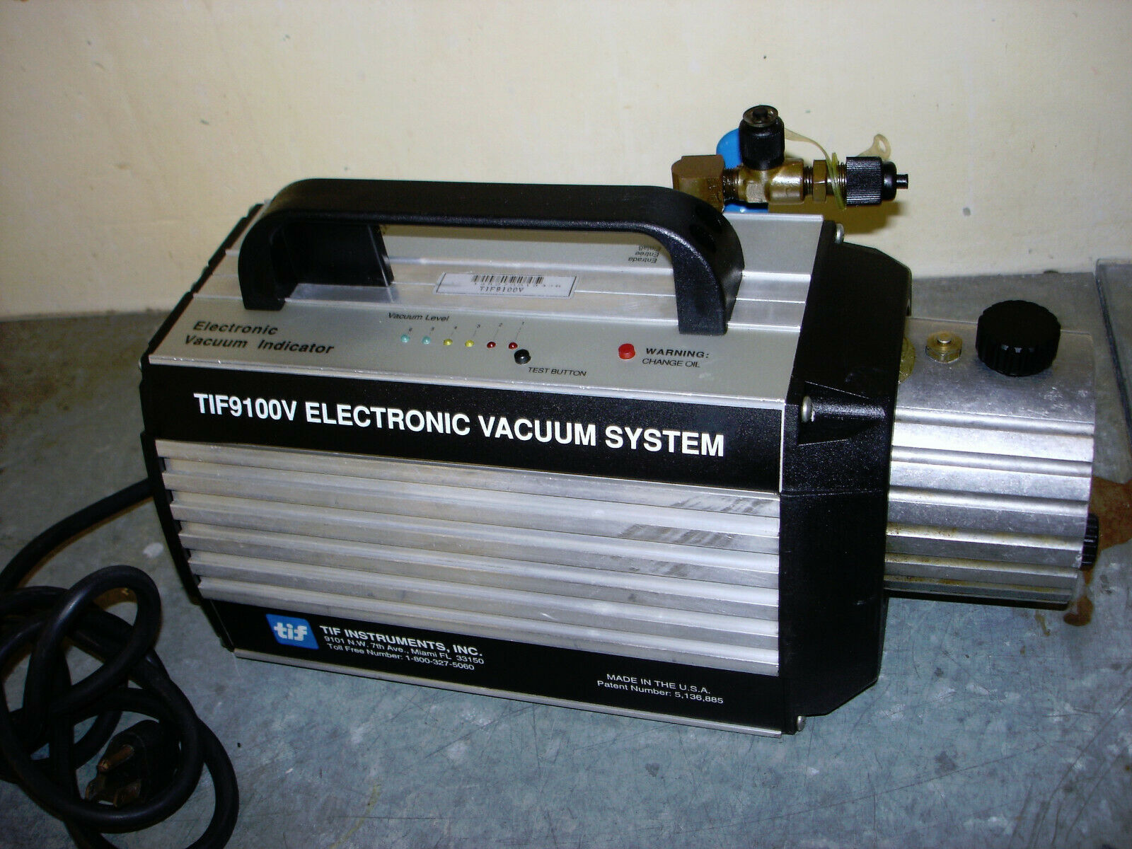 TIF 9100V / Pressure Diagnostic System / Electronic Vacuum System  Made in USA
