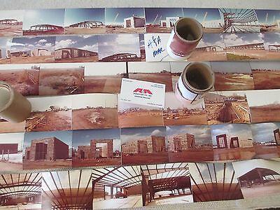 Vintage Metal Building Pre-fab Modular Construction Timeline Photos - 1980