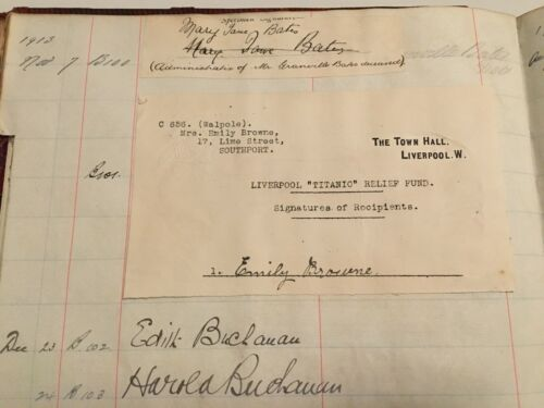 Bank Of Liverpool Signature Book - White Star Interest - Titanic - Beaumont