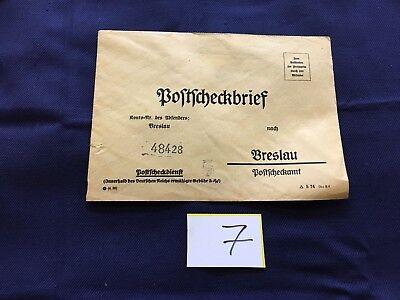 antiker Postscheckbrief Absender Breslau nach Breslau 48428 o. Marke/Stempel (7)