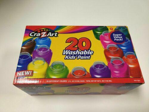 Crayola Washable Kids Paint Set, (20 Count) Super Washable Kids Paint,