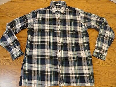 Mens Shirt-ARROW SPORT- plaid cotton flannel long sleeve-Large - FREE SHIPPING