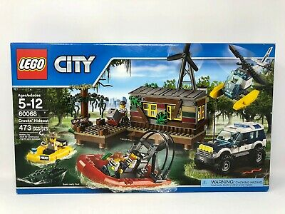 LEGO City Crook's Hideout 60068 New, Sealed, DAMAGED BOX, FREE PRIORITY SHIPPING
