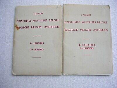 Lot de 2 carnets de 5 gravures - 1er et 2ème Lanciers