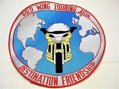 HONDA GOLD WING TOURING ASSOCIATION DESTINATION FRIENDSHIP MOTORCYCLE PATCH 750