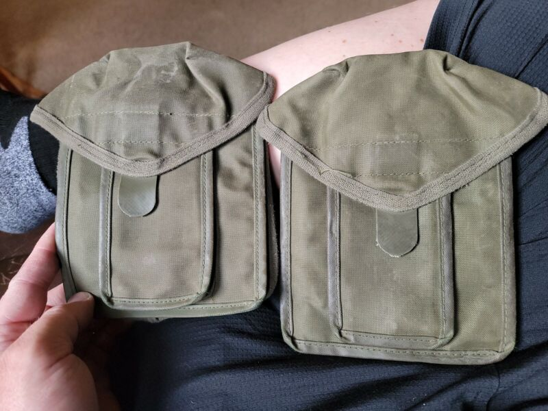 2 Genuine French Army FAMAS F1 Magazine nylon pouch, good used condition