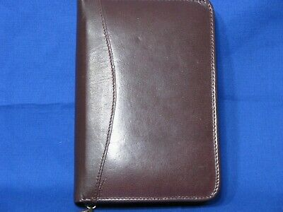 Design A Day Brown Address Directory Notepad Organizer 5x8 Leather