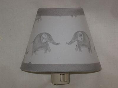 Taylor Elephant Fabric Nursery Nightlight M2M Pottery Barn Kid Bedding