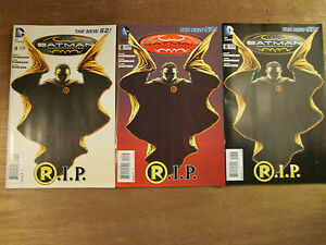 3x BATMAN INCORPORATED #8; 1st 2nd & 3rd print variant set new 52 Grant Morrison