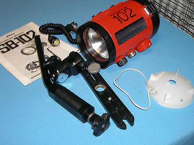 System-Blitzgerät Nikonos SB-102, komplett mit Arm und Schiene §