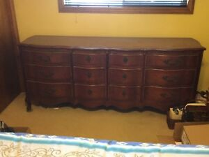 Solid Wood Malcom Dresser and night stand $350