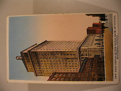 Royal Bank Of Canada Building Montreal International Fine Art  Ifa Postcard Cdii