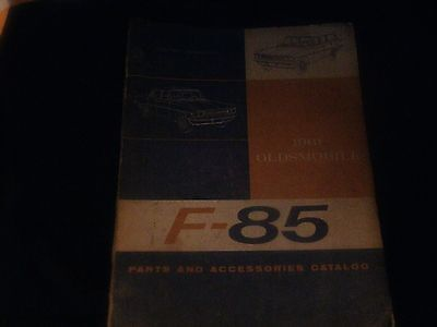 1961 OLDSMOBILE F-85 F85 COMPLETE MASTER PARTS AND ACCESSORIES CATALOG W PART NU