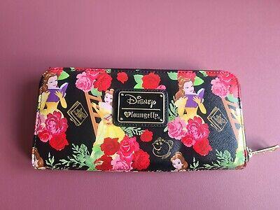 Loungefly Disney Purse Belle BATB Flowers Wallet Lumiere Mrs Potts Clogsworth
