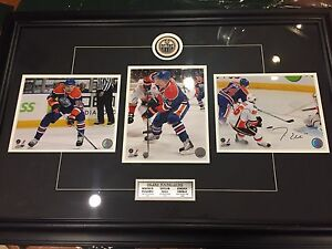 Oilers Young Guns framed photo