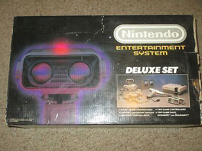 Nintendo Nes Deluxe Set Console Rob Robot Bundle Complete  Rob2